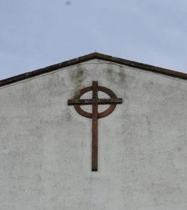 Bildet viser korset som er utpå St Barnabas kirken i Carlisle, England