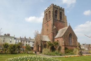 Bildet viser St James kirke i Whitehaven