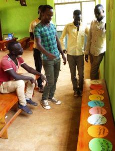 Bildet viser et gruppearbeid med etiopiske menn