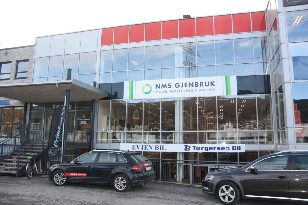 NMS GjenbrukDrammen fasade