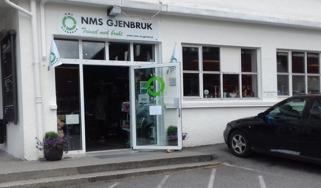 NMS Gjenbruk Os fasade