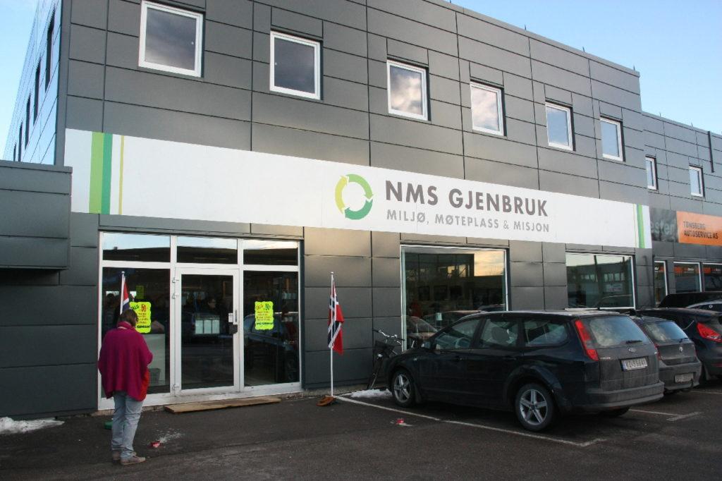 NMS Gjenbruk Tønsberg fasade