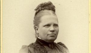 Bolette Margrethe Gjør (1835-1909), fotografert av Daniel Georg Nyblin, Karl den 12tes gade no. 5, Kristiania.